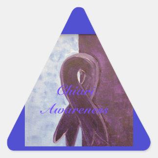Conciencia de Chiari Pegatina Triangular