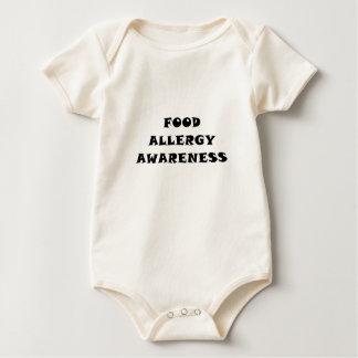 Conciencia de la alergia alimentaria body para bebé