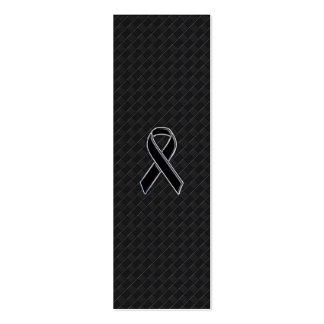 Conciencia de la cinta del negro del estilo del tarjetas de visita mini