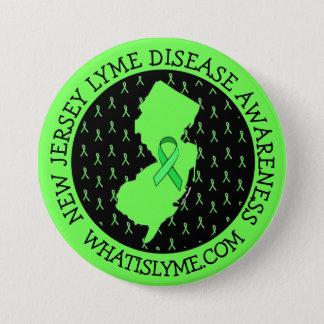 Conciencia de la enfermedad de Lyme en botón de la
