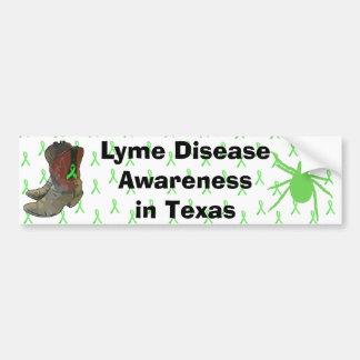Conciencia de la enfermedad de Lyme en la pegatina Pegatina Para Coche
