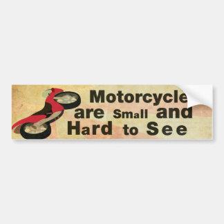 Conciencia de la motocicleta pegatina para coche