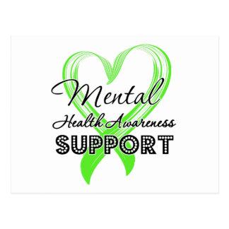 Conciencia de la salud mental - ayuda postales