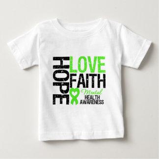 Conciencia de la salud mental de la fe del amor de camiseta