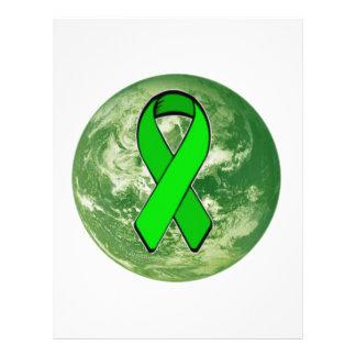 Conciencia de la tierra verde folleto 21,6 x 28 cm