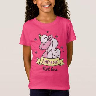 Conciencia del autismo de los chicas, diferente no camiseta