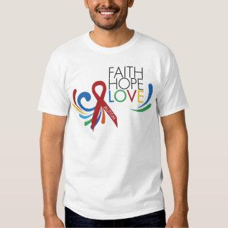 Conciencia del autismo - fe, esperanza, amor camiseta