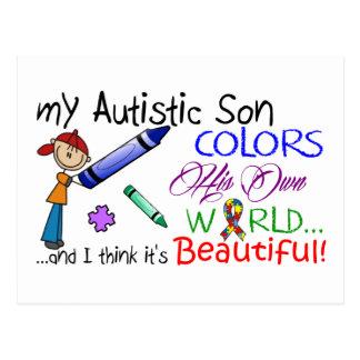 ¡Conciencia del autismo - hijo impresionante! Postal