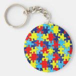 Conciencia del autismo llavero personalizado