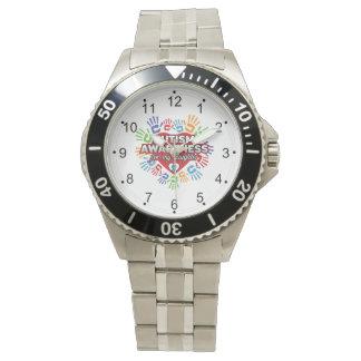 Conciencia del autismo para mi hija reloj de pulsera