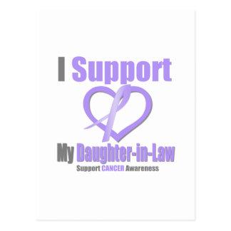 Conciencia del cáncer apoyo a mi nuera postal