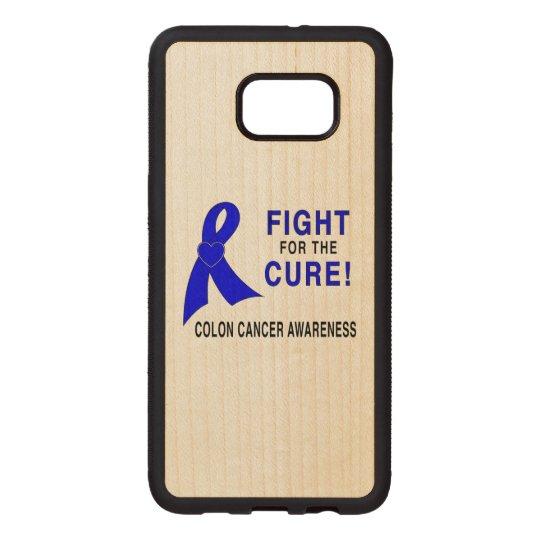 Conciencia del cáncer de colon: ¡Lucha para la Funda De Madera Para Samsung S6 Edge Plus