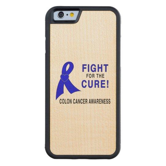 Conciencia del cáncer de colon: ¡Lucha para la Funda Protectora De Arce Para iPhone 6 De Carved