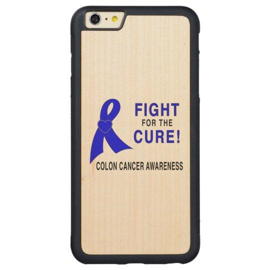 Conciencia del cáncer de colon: ¡Lucha para la Funda Protectora De Arce Para iPhone 6 Plus De Car