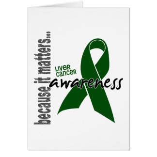 Conciencia del cáncer de hígado tarjeta de felicitación