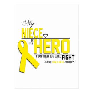 Conciencia del cáncer de hueso: sobrina postal