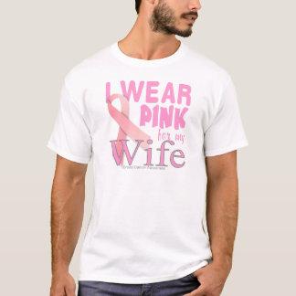 conciencia del cáncer de pecho para la esposa camiseta