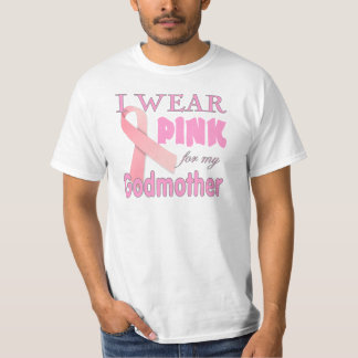 Conciencia del cáncer de pecho para la madrina camiseta