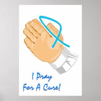 Conciencia del cáncer de próstata que ruego para u impresiones