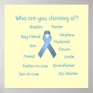 Conciencia del cáncer póster