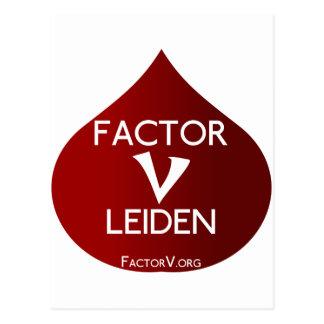 Conciencia del factor V Leiden Postal
