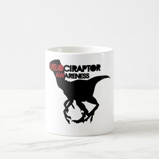 conciencia del velociraptor taza de café