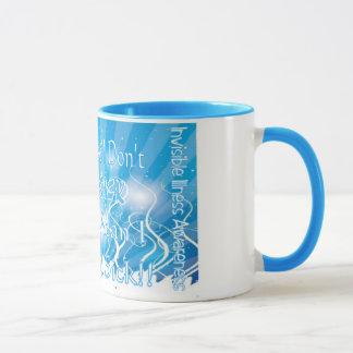 Conciencia invisible de la enfermedad, café o taza