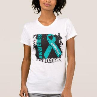 Conciencia peritoneal del cáncer del Grunge Camisetas