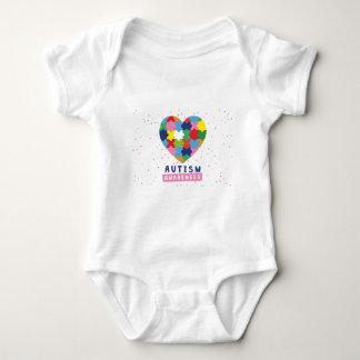 conciencia rosada del autismo body para bebé