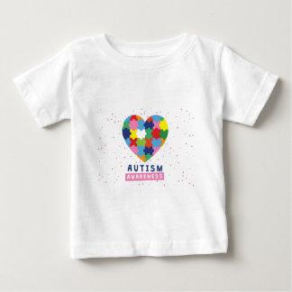 conciencia rosada del autismo camiseta de bebé
