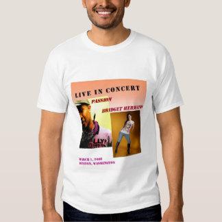 Concierto de Bridget Hermano y de la pasión Camisetas