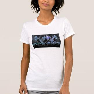 Concierto de rock de Sliouetted Camisas