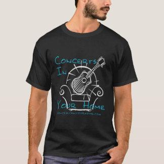 Conciertos en su logotipo casero de la silla camiseta