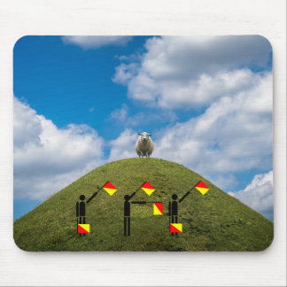 Concurso del semáforo de bandera - oveja alfombrilla de ratón