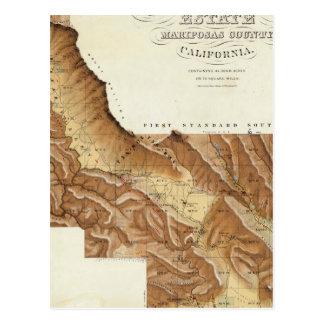 Condado California de Mariposas del estado de Las Tarjetas Postales