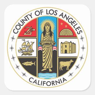 Condado de Los Ángeles Pegatina Cuadrada