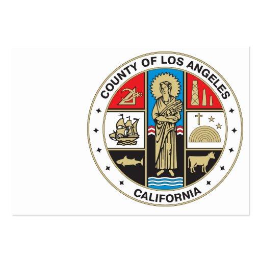 Condado del sello de Los Ángeles Plantillas De Tarjetas De Visita