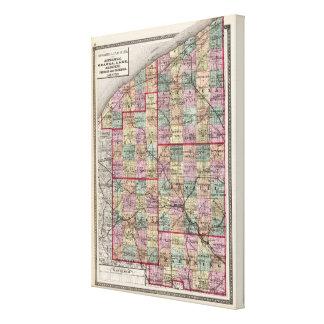 Condados de Portage y de Trumbull Impresión En Lienzo Estirada