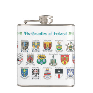 Condados del frasco de Irlanda Petaca