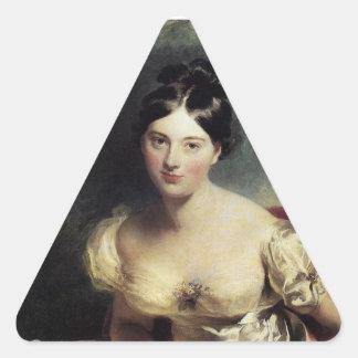 Condesa de Maguerite de Blessington Pegatina Triangular