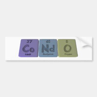 Condo-Co-Nd-O-Cobalt-Neodymium-Oxygen.png Pegatina Para Coche
