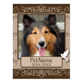 Condolencia de encargo del mascota de los postal