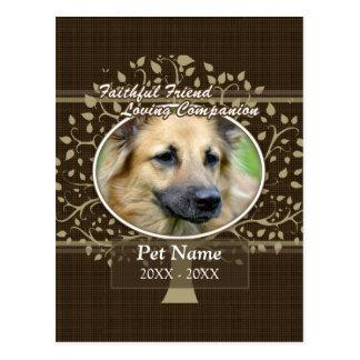 Condolencia de encargo del mascota del amigo fiel postal