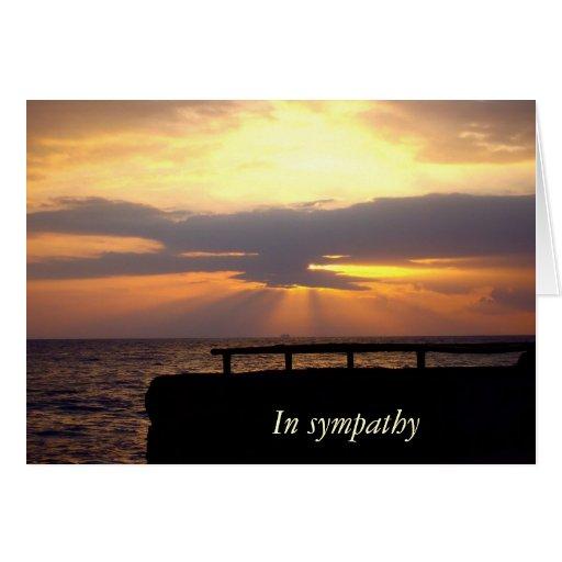 Condolencia de la puesta del sol felicitación