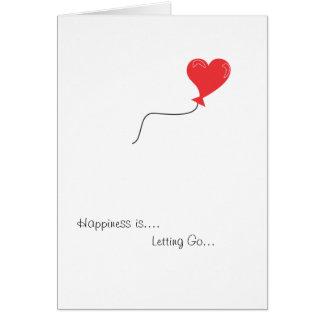 Condolencia - dejando vaya tarjeta de felicitación