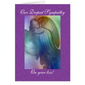 Condolencia del ángel del arco iris tarjeta