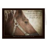Condolencia del caballo con Niza palabras Tarjetón