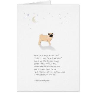 Condolencia del mascota del perro del barro tarjeta de felicitación