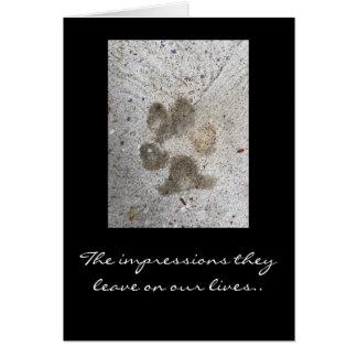 Condolencia del mascota tarjeta pequeña