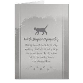 Condolencia del veterinario y del gato del negocio tarjeta de felicitación